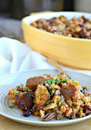 chipotle pecan and cranberry cornbread stuffing west of the loop