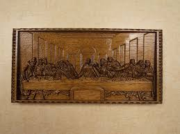 leonardo da vinci the last supper wall decor cnc 3d wooden
