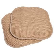 Memory Foam Chair Pad Memory Foam Honeycomb Stripes Non Slip Back Chair Pad 2 Pack