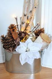 log centerpieces designer made decorative yule