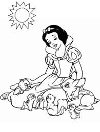 digital dunes free printable snow white princess coloring pages