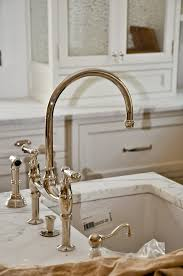 nickel faucets kitchen perrin and rowe bridge faucet polished nickel