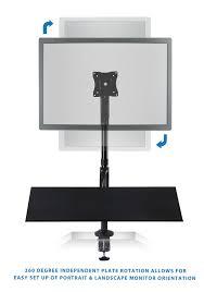 mount it sit stand desk mount workstation height adjustable