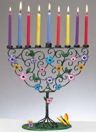 rite lite menorah rite lite flowering tree crafted metal menorah