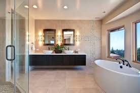 Small Floating Bathroom Vanity - bathrooms gorgeous bathroom with oval bath tub and floating sing