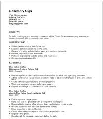 Resumes Atlanta Real Estate Resume Example Real Estate Specialist Resume Free