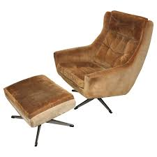 mid century modern swivel chair mid century modern overman lounge chair with ottoman at 1stdibs