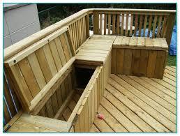Deck Storage Bench Treated Wood Deck Maintenance