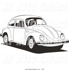 volkswagen car white clip art of a volkswagen bug car driving to the right in black and