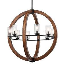 Orb Chandelier Grand Bank Orb Chandelier In Distressed Antique Gray Lighting