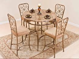 wrought iron dining room table furniture excellent small dining room decoration using brown