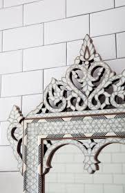 68 best subway tile images on pinterest glass subway tile a decorative mirror atop classic subway tile mirror tile thetileshop