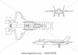 outline drawing military aircraft vector u0026 photo bigstock