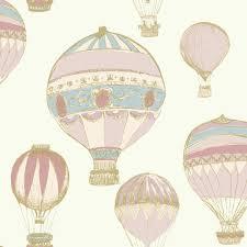 Bedroom Decorating Ideas Homebase Grandeco Air Balloons Pattern Stripe Metallic Wallpaper A11101