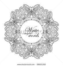 beautiful deco vintage flowers mandala space stock vector
