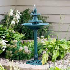 Tiered Backyard Landscaping Ideas by Alpine Avant Garden Three Tier Bird Bath Fountain Hayneedle