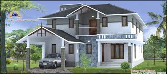 3 beautiful home elevations kerala home design and floor plans