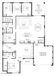 family home floor plans kitchen big family home floor plans open plan house modern