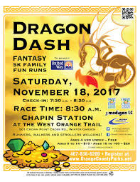 dragon dash oc fantasy 5k family fun runs 2017 tickets sat nov
