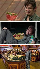 Salad Meme - new meme proves that daryl dixon hates salad more than walkers photo
