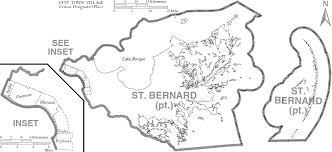 Louisiana Map Cities by St Bernard Parish Louisiana Wikiwand