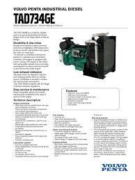 volvo penta tad734ge diesel engine engines