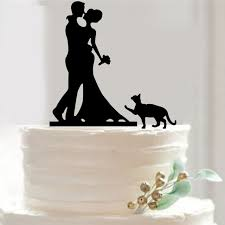 wedding cake top acrylic wedding cake topper design with cat