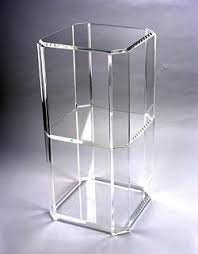 Lighted Pedestal Stands Custom Acrylic Stand Square Pedestal Lighted Frosted Pease