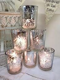 silver tea light holders set of 6 mercury glass silver tea light holder candle votive wedding