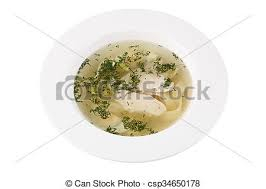 bouillon blanc en cuisine plaque isolé profond rond arrière plan bouillon image