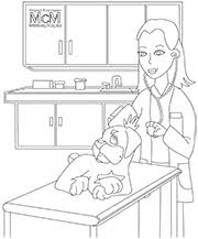 colouring pages kids mcm veterinary hospital