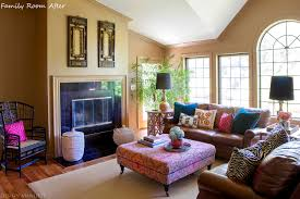 a family room by design manifest suzani patterns global eclectic