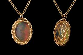opal necklace setting images Mexican fire opal jpg