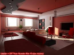 modern living room and red home design ideas