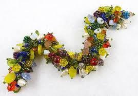 murano glass bead bracelet images Venetian glass flowers beads bracelet garden party collection jpg