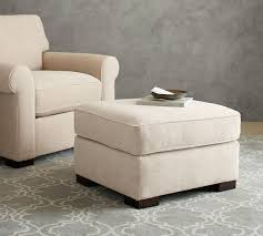 townsend upholstered ottoman pottery barn