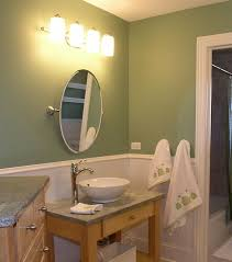 interior bathroom lighting over mirror bathroom with black
