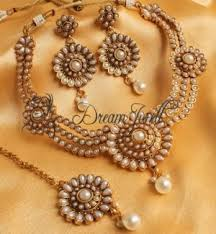 bridal necklace set pearl images Moti necklace set gorgeous antique pearl bridal necklace set jpg
