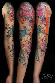 25 best watercolor tattoo sleeve ideas on pinterest vintage