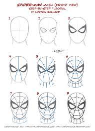 drawing webbing spider man u0027s costume tutorial