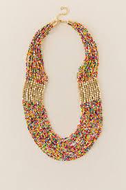 multi color necklace images Lyla multi color beaded necklace francesca 39 s tif&a