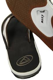 reef fanning flip flops womens reef mens fanning leather flip flops in brown and white with free uk