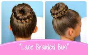 put your hair in a bun with braids lace braided bun cute updo hairstyles cute girls hairstyles