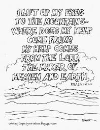 coloring pages for kids by mr adron psalm 121 1 2 printable