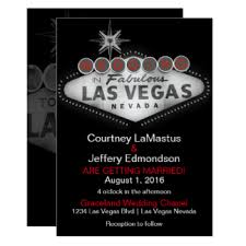 vegas wedding invitations las vegas destination wedding invitations announcements zazzle