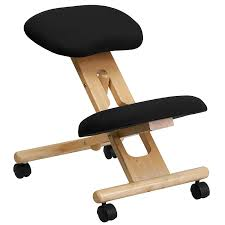 amazon com mfo mobile wooden ergonomic kneeling chair in black