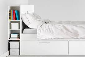 Beds With Bookshelves by Headboards Ikea