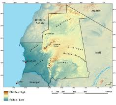 Sahel Desert Map Ecoregions And Topography Of Mauritania West Africa