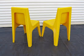 Chairs Israel 2 Yellow Stacking Childs Chairs Polyziv Israel Mod Space Age