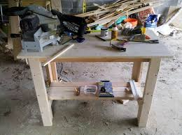 5 Workbench Ideas For A Small Workshop Workbench Plans Portable by Ana White Sturdy Work Bench Diy Projects